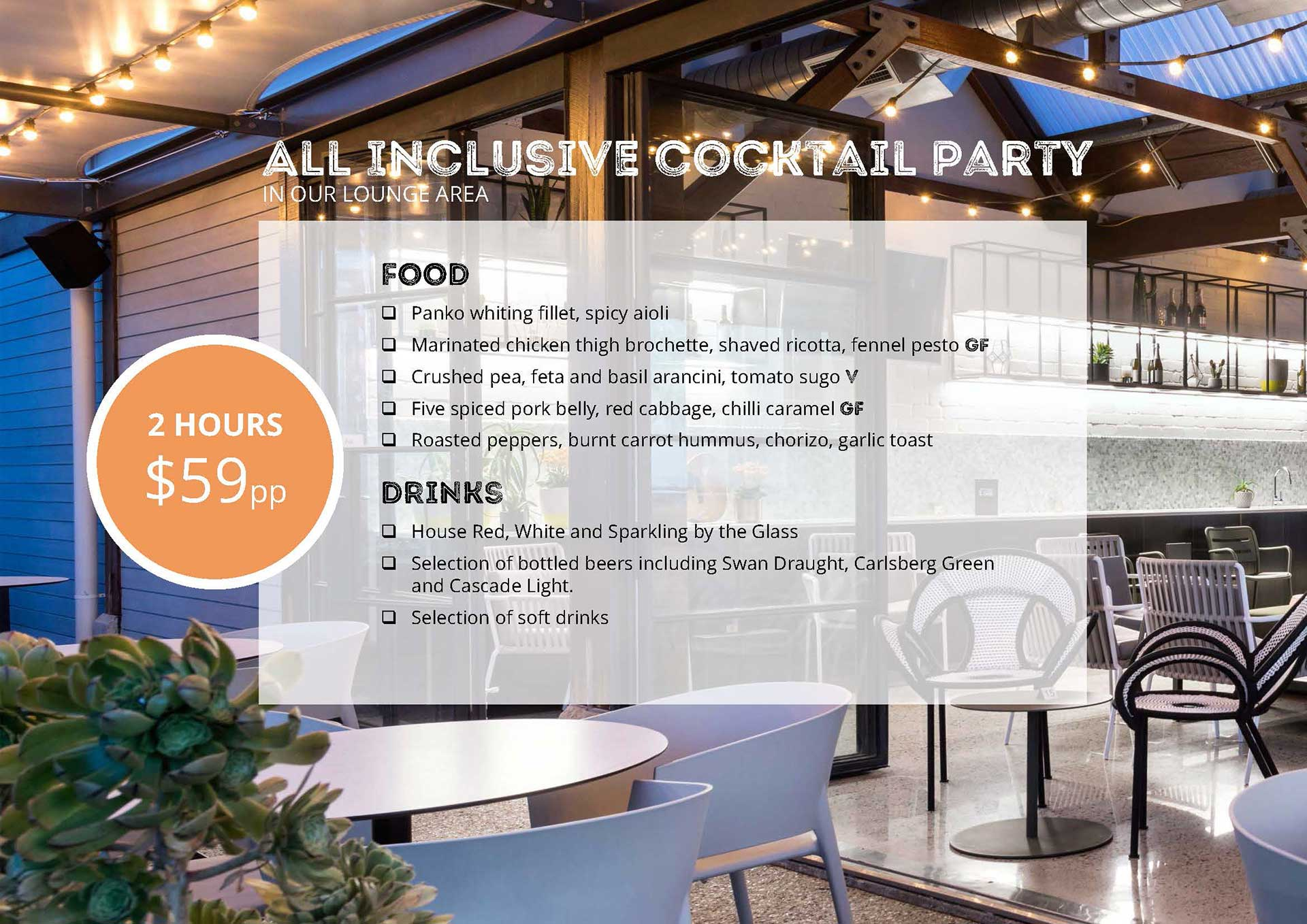 All Inclusive Cocktail Party